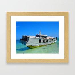 Indonesian Boat Framed Art Print