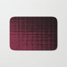 Black maroon mosaic Bath Mat