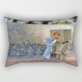 Danbo and cat #11 Rectangular Pillow