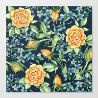 roses Canvas Prints featuring Roses by Julia Badeeva