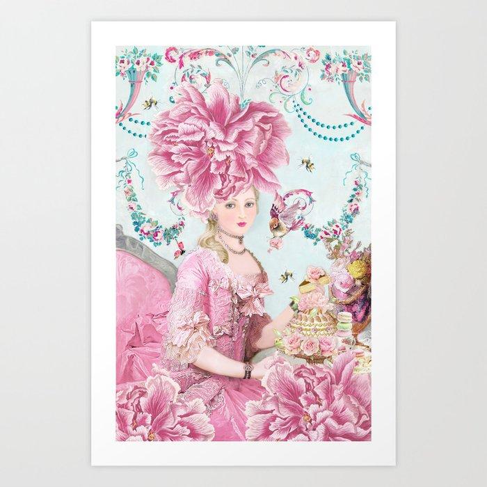 Marie Antoinette Wallflower Art Print