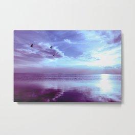 Serenity Lake Lavender Metal Print