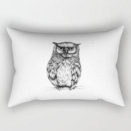 Inked Owl Rectangular Pillow