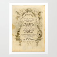 Tears are the Very Wine of Blessedness Art Print