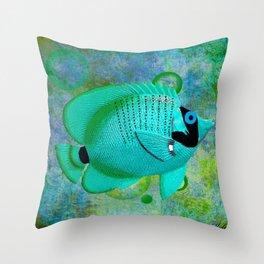 ANGEL FISH BLUE Throw Pillow