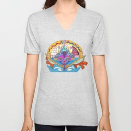 Blue Monkey Mind State Unisex V-Neck
