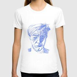 Andy portrait (Blue) T-shirt