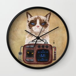 'Postapocalyptic' style Cheshire cat (Alice in Wonderland) Wall Clock