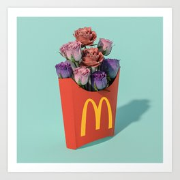 Flowers are better than fries Art Print