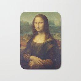 Classic Art - Mona Lisa - Leonardo da Vinci Bath Mat