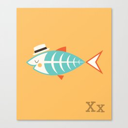 Animal Alphabet - X-Ray Fish (With Letters) Canvas Print