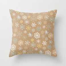 snow flakes pattern Throw Pillow