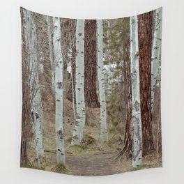 Trail Through Quaking Aspen Wall Tapestry