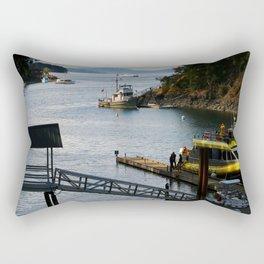 Harbour at Butchart´s Garden Rectangular Pillow