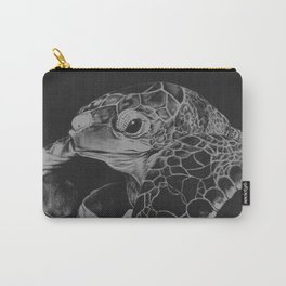 Hatching turtle in black and white Carry-All Pouch