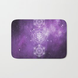 Sacred Geometry - We are Stardust Bath Mat
