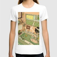 bath T-shirts featuring Bath by oculus-feline