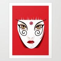 Geisha-f2f Art Print