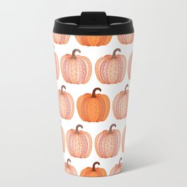 Patterned Pumpkin Travel Mug
