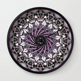 Sahasrara. Crown chakra mandala Wall Clock