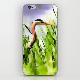 Master of the Marshes  -  Blue Heron iPhone Skin