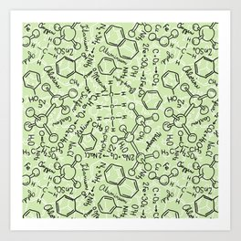 School chemical #6 Art Print