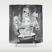 zombies Shower Curtains featuring Zombies  by Alejandra Ochoa