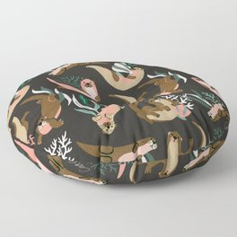 Otter Collection - Charcoal Floor Pillow