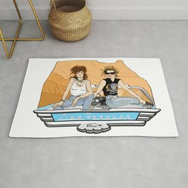 "Thelma & Louise ""Live Forever"" pin-up Rug"
