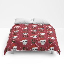 Skull Christmas pattern Comforters