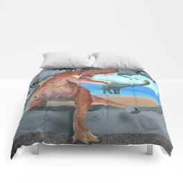 Prehistoric Dinosaur Tyrannosaurus Enters the 21st Century Comforters