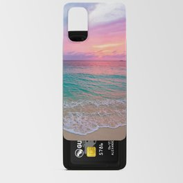 Aerial Photography Beautiful: Turquoise Sunset Relaxing, Peaceful, Coastal Seashore Android Card Case