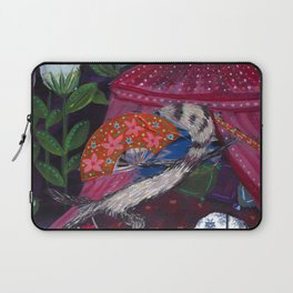 Ferret with Floral Fighting Fans Laptop Sleeve