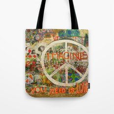 Peace Sign - Love - Graffiti Tote Bag