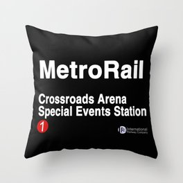 Crossroads Arena Special Events Station Throw Pillow