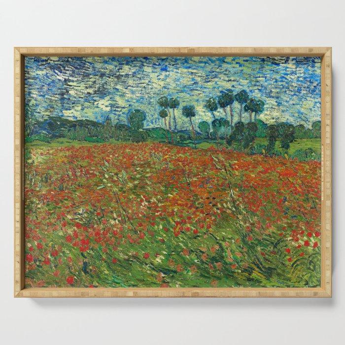 Vincent Van Gogh Poppy Field Serving Tray By Artgallery Society6