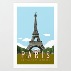 Paris 2 Travel Poster Art Print