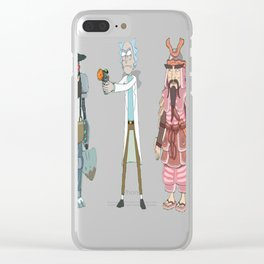 Amish Cyborg, Hamurai, Rick — Rick and Morty T-Shirt Clear iPhone Case