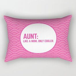 Cool Aunt Funny Quote Rectangular Pillow
