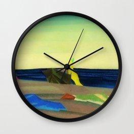 Sunbathers on the Beach by Lyonel Feininger Wall Clock