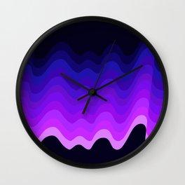 Ultraviolet Retro Ripple Wall Clock