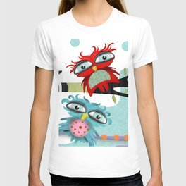 TWO OWLS CHILLING IS FABULOUS T-shirt