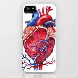 Watercolor heart iPhone Case