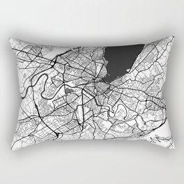 Geneva Map Gray Rectangular Pillow