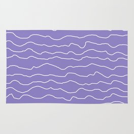 Lavender with White Squiggly Lines Rug