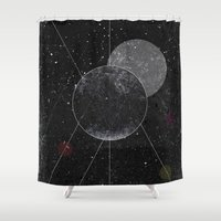 universe Shower Curtains featuring Universe by jrteerayut