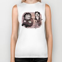 tim burton Biker Tanks featuring Burton Grumps by SIINS