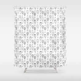 Hot Air Balloons in Black and White Shower Curtain