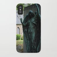 snatch iPhone & iPod Cases featuring Grave Snatcher by Cemetery Prints Inc.