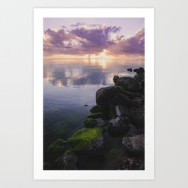 Sunrise On The Bay In Corpus Christi Art Print